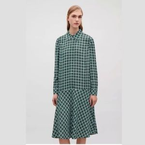 COS Drop-waist Collared Shirt Dress